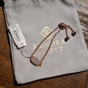 NWT Kendra Scott Elaina Rose Gold Bracelet